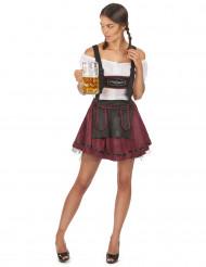 Costume cameriera bavarese sexy bordeaux adulto