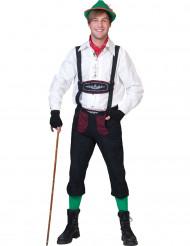 Costume bavarese nero e bordeaux per uomo