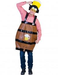 Costume da botte di birra umoristico adulto