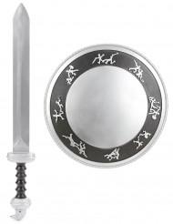 Kit gladiatore spada e scudo bambino