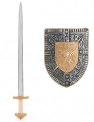 Kit spada e scudo per bambino