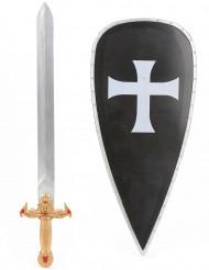 Kit scudo e spada cavaliere crociato bambino