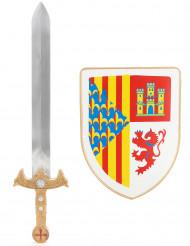 Kit scudo e spada cavaliere bambino