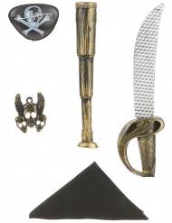 Kit da pirata - Spada, bandana, pendente, copriocchio
