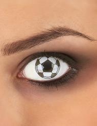 Lenti a contatto fantasia pallone da calcio per adulto