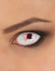 Trucco Halloween: lenti a contatto fantasia insanguinate adulto