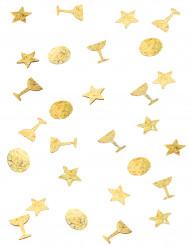Trio di coriandoli da tavola color oro