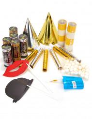 Kit per la festa oro e argento con set da photobooth