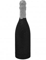 Bottiglia di coriandoli nera brillantinata