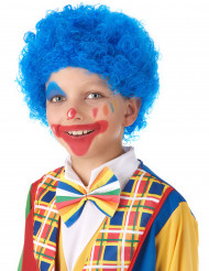 Parrucca blu clown bambino