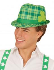 Cappello tartan verde trifoglio San Patrizio adulto