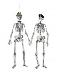 Decorazione coppia di scheletri retro 1.5 m