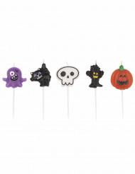 Decorazione di Halloween: 5 candeline mostruose