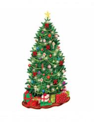 Decorazione murale albero di Natale cartone