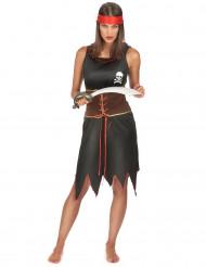 Costume abito da pirata per donna