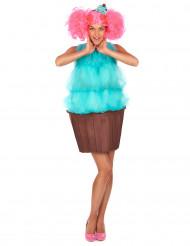 Costume da cupcake turchese per donna