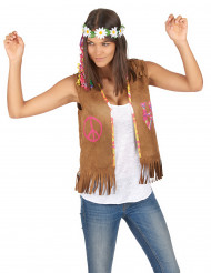 Gilet da hippie con frange per donna