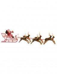 Decorazione torta Babbo Natale slitta 22 cm
