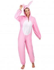 Costume Coniglio bianco e rosa per donna