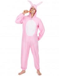 Costume Coniglio Rosa per uomo
