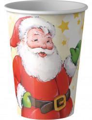 8 bicchieri Babbo Natale 20 cl