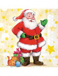 20 Tovaglioli di Carta Babbo Natale 33 x 33 cm