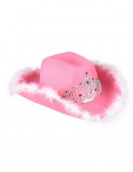 Image of Cappello Cowgirl rosa per donna