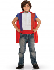 Maglietta Francia petto muscoloso con mantello per bambino