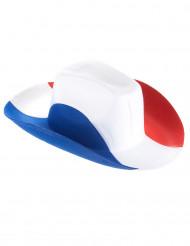 Cappello cowboy tricolore francese