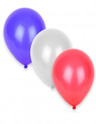 50 palloncini gonfiabili bianchi, rossi e blu