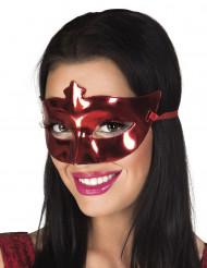 Maschera veneziana rossa metallizzata