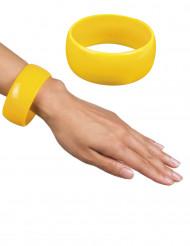 Braccialetto largo giallo donna