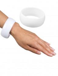 Brccialetto bianco largo donna
