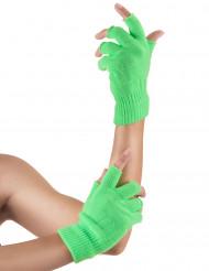 Guanti corti verde fluo adulto