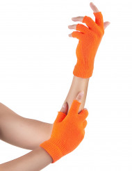 Guanti corti arancione fluo adulto