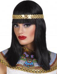 Parrucca nera media lunghezza regina del Nilo