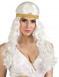 Parrucca lunga bianca con fascia