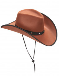 Cappello Cowboy marrone per adulto