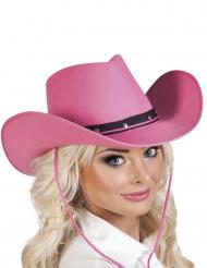 Cappello Cowboy rosa per adulto