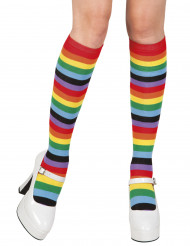 Calzettoni arcobaleno donna