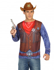 T-shirt cow-boy adulto
