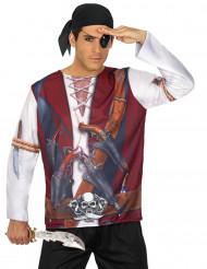 Maglia tenuta da pirata per uomo