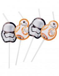 6 Cannucce con medaglione Star Wars VII™
