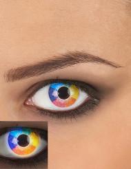 Lenti a contatto fantasia arcobaleno per adulto