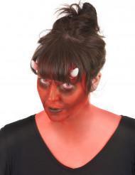 Kit trucco demone con lentine per adulto Halloween