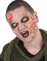 Kit trucco zombie con lentine per adulto Halloween