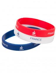 Braccialetti tricolore France FFF™ in silicone