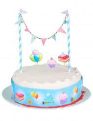 Decorazione per torte con mini ghirlanda