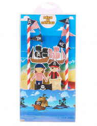 Set Decorazione per Torte Pirati