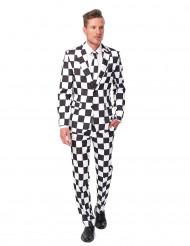 Abito classico bianco e nero per uomo - Suitmeister™